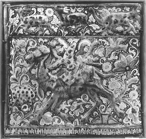 Tile Depicting Bahram Gur and Azada