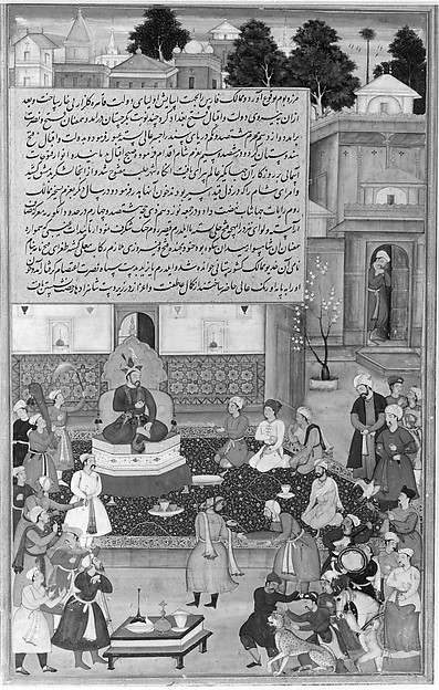 """Sultan Bayazid before Timur"", Folio from an Akbarnama  (History of Akbar)"