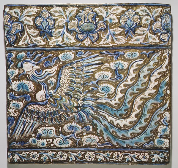 Tile with Image of Phoenix