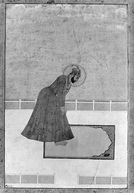 Portrait of Prince Muhammad Buland Akhtar (known as Nur Achhe Sahib) at Prayer