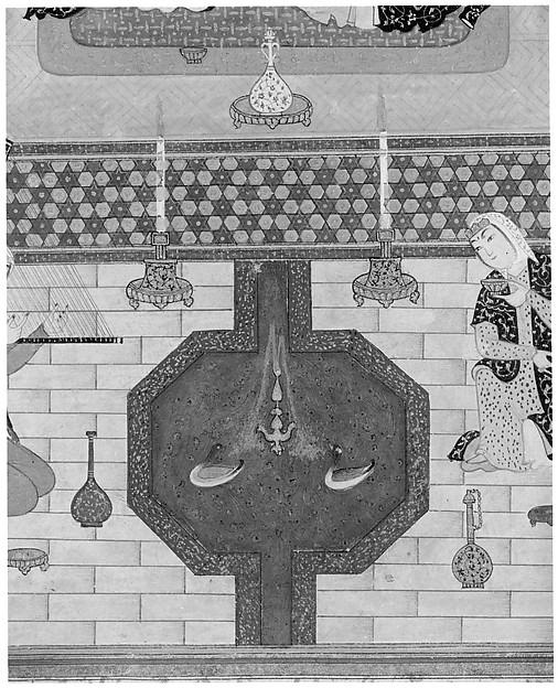 """Bahram Gur in the Dark Palace on Saturday"", Folio from a Khamsa (Quintet) of Nizami"