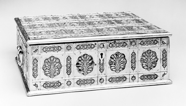 Writing Box with Lattice and Flower Design