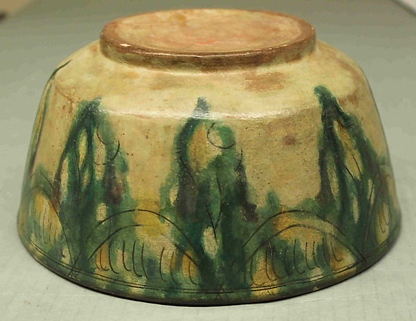 Six Vessels with Splashed and Incised Decoration (Sgraffito Ware)