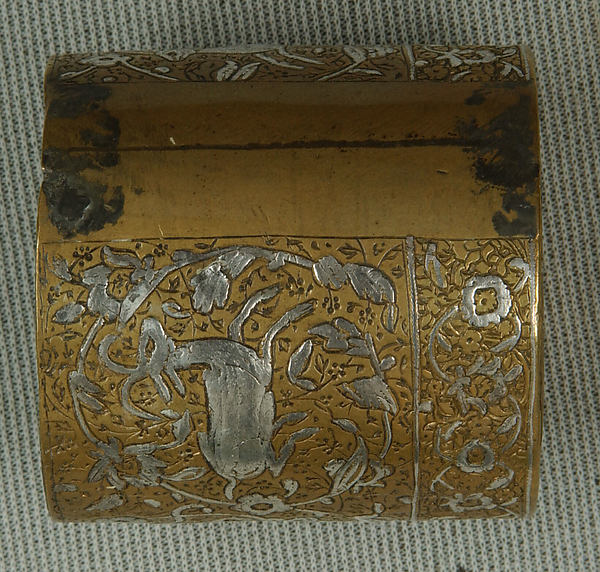 Inkwell with Floral and Animal Imagery