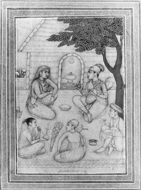 Hindus Conversing before a Shrine