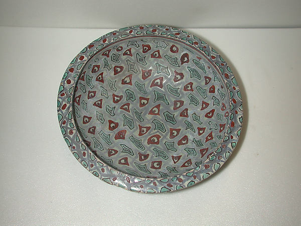 <Mina'i> bowl with abstract pattern