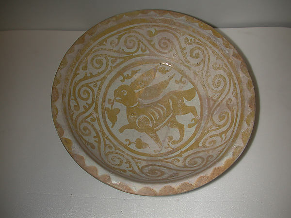 Bowl Depicting a Running Hare