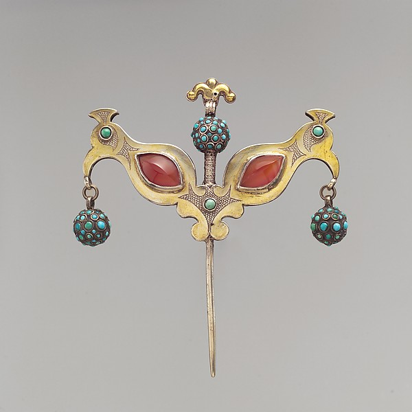 Headdress Ornament in the Shape of Double Bird