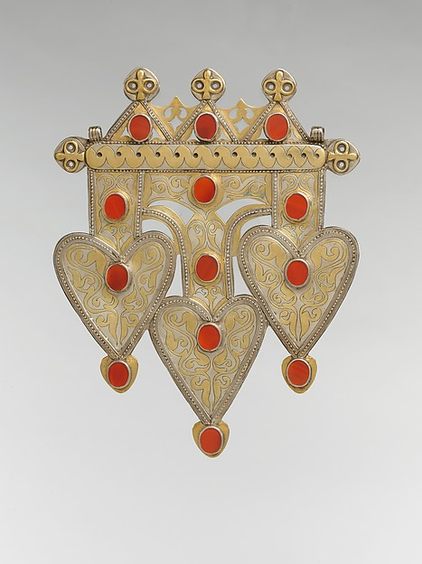 Triple Cordiform Ornament