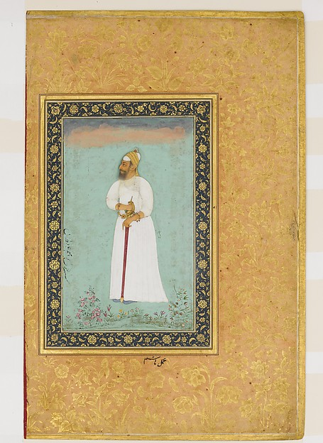 """Portrait of Ibrahim 'Adil Shah II of Bijapur"", Folio from the Shah Jahan Album"
