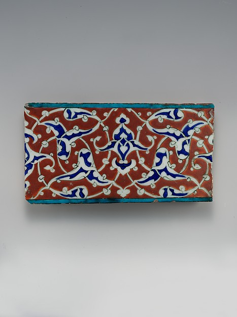 Border Tile with Split-palmette Design
