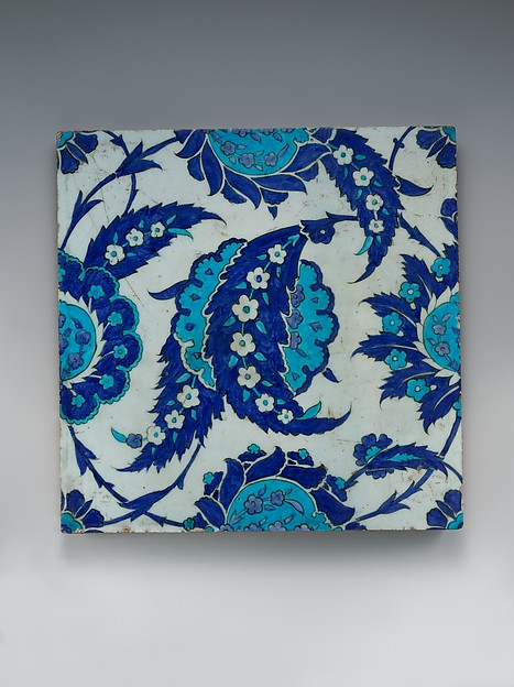 Tile with 'Saz' Leaf Design