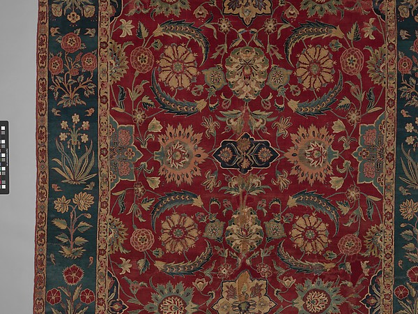 Carpet with Scrolling Vines and Blossoms