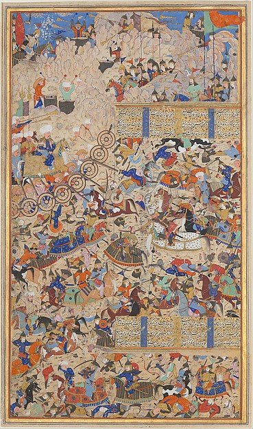 """""""Battle Between Iranians and Turanians"""", Folio from a Shahnama (Book of Kings)"""