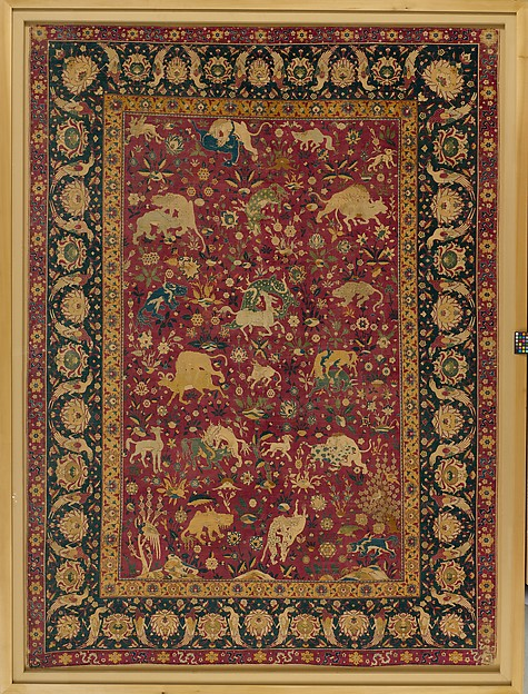 Silk Animal Carpet