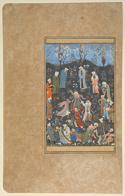 """Dancing Dervishes"", Folio from a Divan of Hafiz"