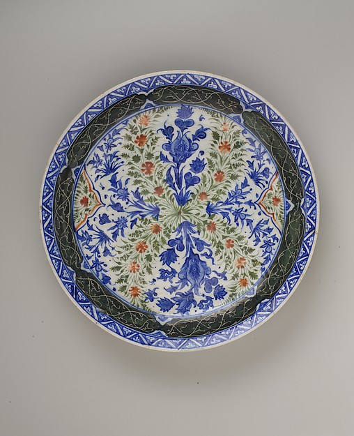 Dish with Floral Designs