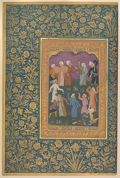 """Dancing Dervishes"", Folio from the Shah Jahan Album"
