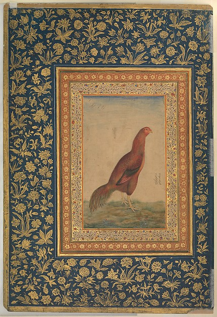 """Portrait of Muhammad Ali Baig"", Folio from the Shah Jahan Album"