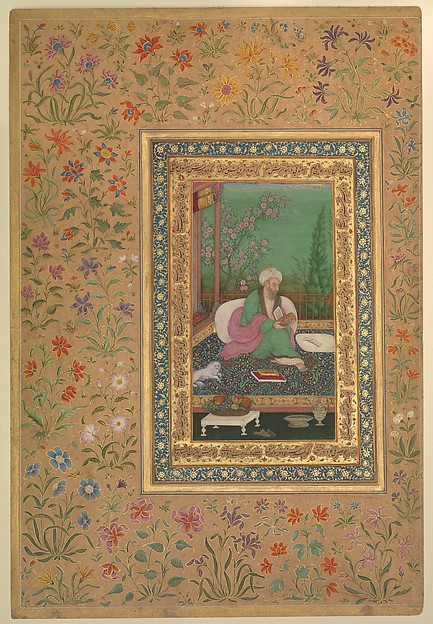 """Haji Husain Bukhari"", Folio from the Shah Jahan Album"