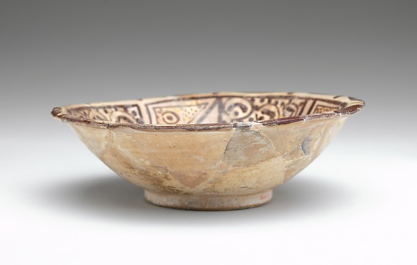 Bowl with Polychrome Decoration on a Black Slip Ground