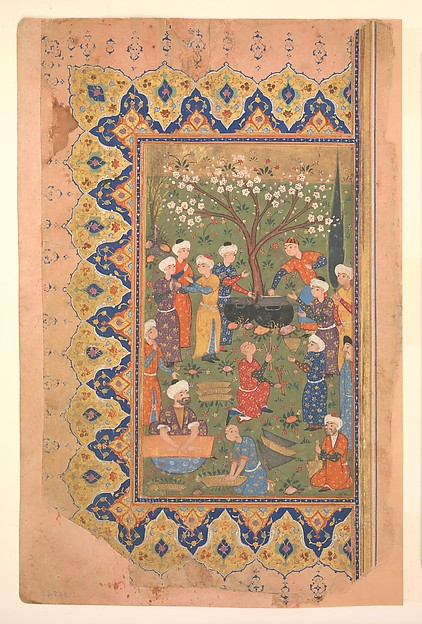 """Preparation For a Noon-Day Meal,"" Folio from a Divan (Collected Works) of Mir 'Ali Shir Nava'i"