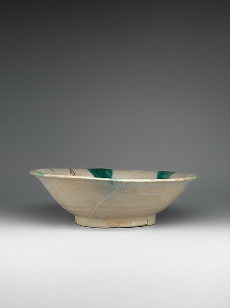 Imitation Green-Splashed Samarra Ware
