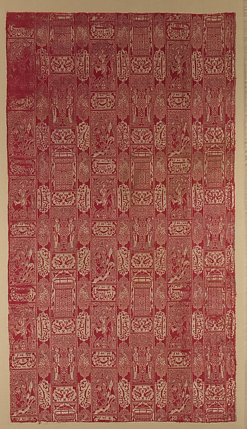 Textile depicting a scene from Nizama's Khamsa
