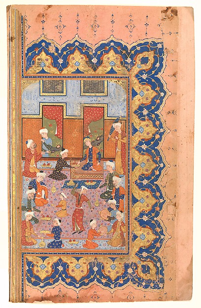 """""""A Scene of Conviviality at Court"""", Folio from a Divan (Collected Works) of Mir 'Ali Shir Nava'i"""