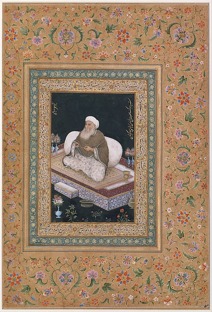 """Portrait of Shaikh Hasan Chishti"", Folio from the Shah Jahan Album"