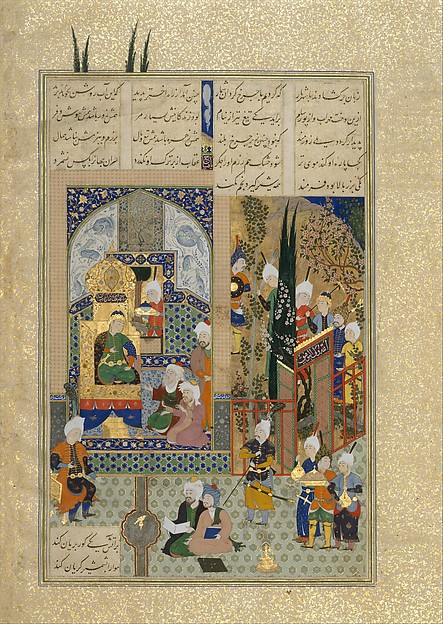 """The Shah's Wise Men Approve of Zal's Marriage"", Folio from the Shahnama (Book of Kings) of Shah Tahmasp"