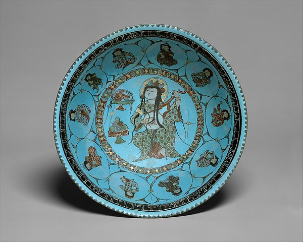 Bowl with a Lute Player