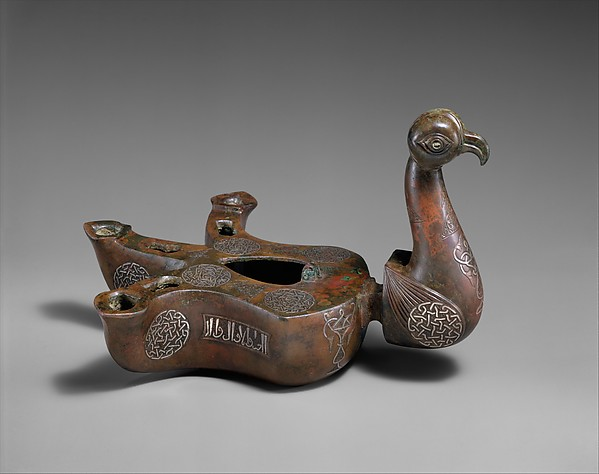 Bird-shaped oil lamp