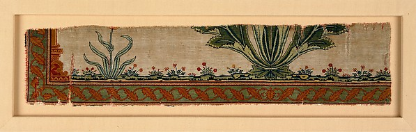 Fragment of a Carpet with Niche and Flower Design