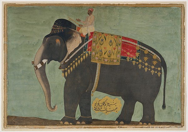 Portrait of the Elephant  'Alam Guman
