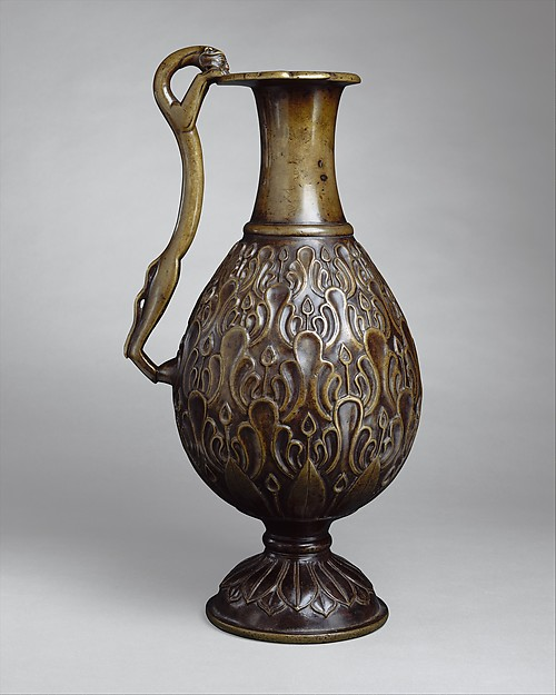 Ewer with a Feline-Shaped Handle