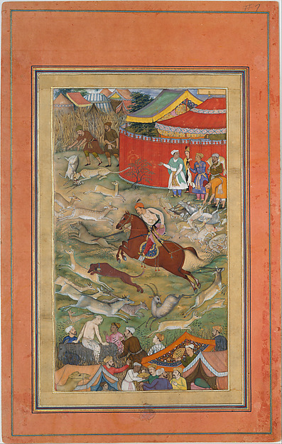 """Hamid Bhakari Punished by Akbar"", Folio from an Akbarnama"