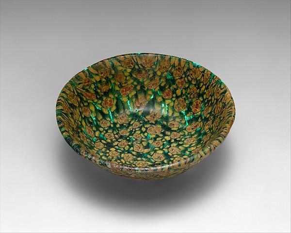 Glass Bowl in Millefiori Technique