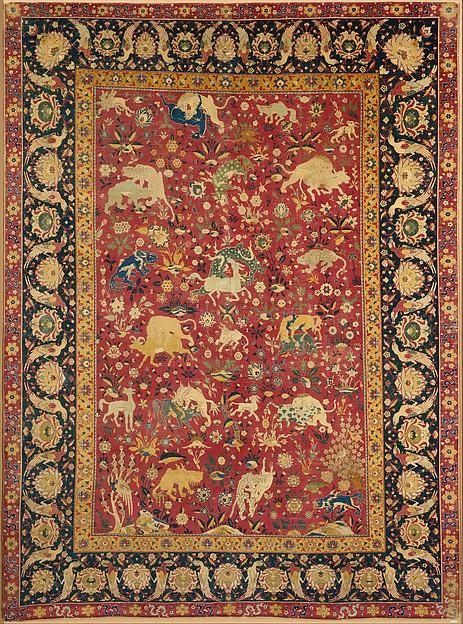 Silk Animal Carpet