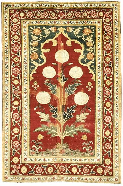 Carpet with Niche and Flower Design