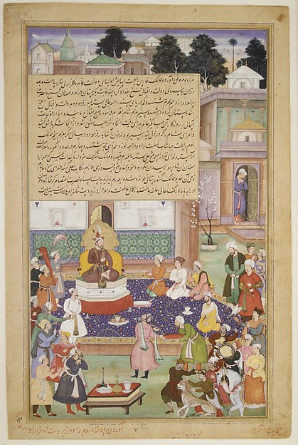 """Sultan Bayazid before Timur"", Folio from an Akbarnama  (History of Akbar)"