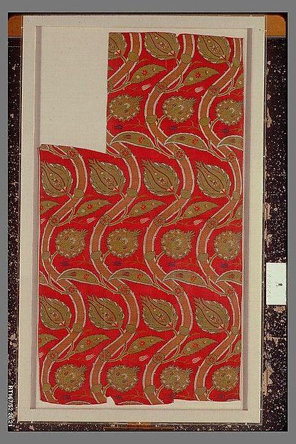 Fragmentary Loom Width with Wavy-vine Pattern