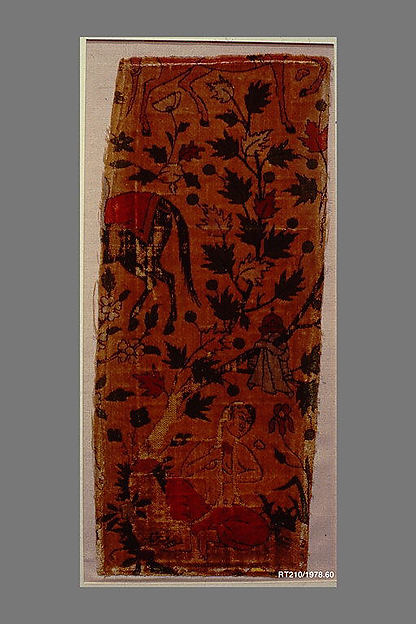 Velvet Fragment with Design from Nizami's Khusrau and Shirin