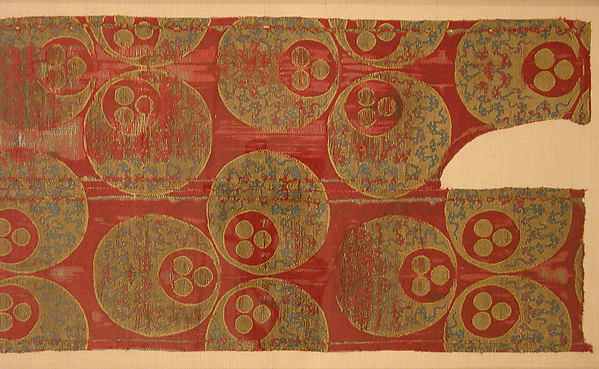 Textile with Large Chintamani Design