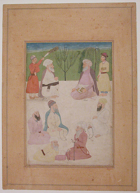 Portrait of Shaikh Mir Muhammad and Mulla Shah