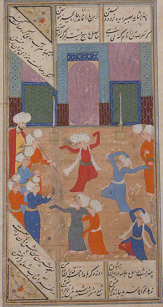 """A Scene of Dancing and Music"", Folio from a Kulliyat (Complete Works) of Sa'di"