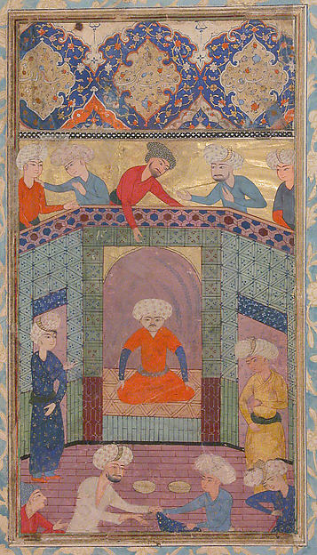 """A Ruler in his Palace"", Folio from a Kulliyat (Complete Works) of Sa'di"