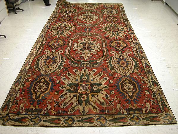 Carpet with Geometricized Floral Design