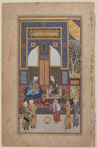 """Interior Reception"", Folio from a Bustan of Sa`di"