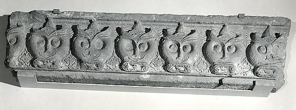 Fragment of a Cornice with a Frieze of Masks